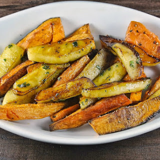 Roasted Sweet Potatoes And Apples In Maple Sage Butter