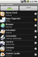 Screenshot of Apps Organizer