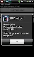 Screenshot of VPNC Widget