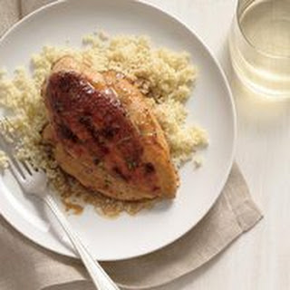 Caramel-Balsamic-Glazed Chicken over Couscous