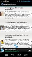 Screenshot of Cung hoàng đạo