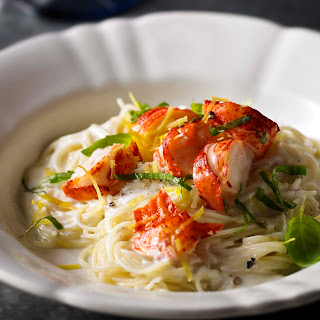 Angel Hair Pasta With Lobster Tails
