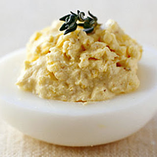 Sour Cream, Lemon, and Herb Deviled Eggs