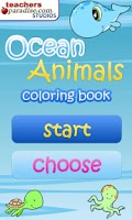 Screenshot of Ocean Animals Coloring Book