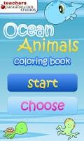Screenshot of Ocean Animals Coloring Book