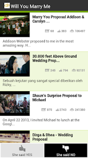 Top marriage proposal videos - screenshot