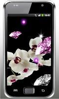 Screenshot of Orchid Diamonds live wallpaper