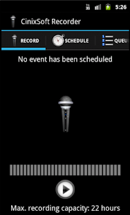 Secure Schedule Voice Recorder - screenshot