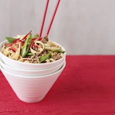 Five-spice Beef & Sugar Snap Noodles