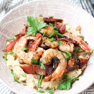 "Shrimp and Cauliflower ""Grits"""