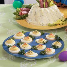 Three-Cheese Deviled Eggs