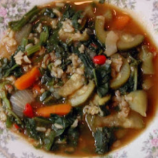 Slow-Cooked Harvest Vegetable and Rice Soup
