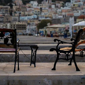Call it a day by Ivan Nikolov - City,  Street & Park  Street Scenes ( chair, challenge, bench, street, view, city, Chair, Chairs, Sitting )