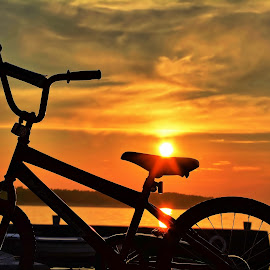bicycles and sunset by Adriana Kastelan - Transportation Bicycles