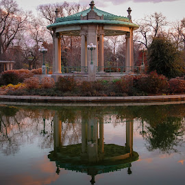 Serenity by Ramzi Souki - City,  Street & Park  City Parks ( water, park, sunset, saint louis, gazebo )