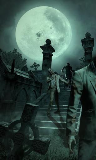 Zombie Graveyard Live Wallpape