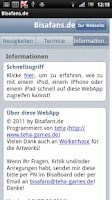 Screenshot of Bisafans.de