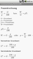 Screenshot of Formelsammlung Mathematik