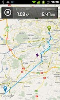 Screenshot of dTracker GPS route tracking