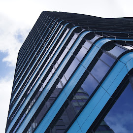 Blue tower 1 by Anita Berghoef - Buildings & Architecture Office Buildings & Hotels ( office, building, blue, architecture, looking up )