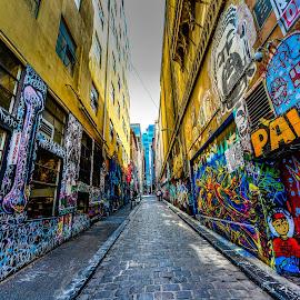 Graffiti street by Sb Sangpi - City,  Street & Park  Street Scenes ( melbourne, graffiti, australia, street, street photography )