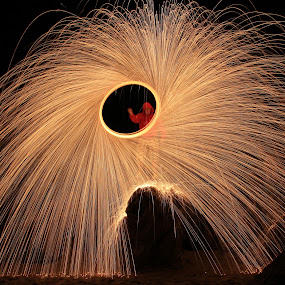 lana de acero by Miguel Lopez De Haro - Abstract Light Painting ( Steel Wool, Fire, Sparks )