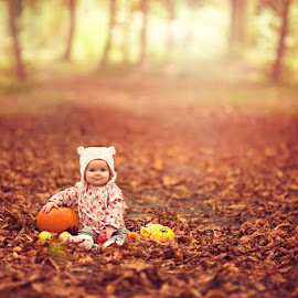 Autumn in the Woods by Chinchilla  Photography - Babies & Children Babies ( fall, color, colorful, nature )
