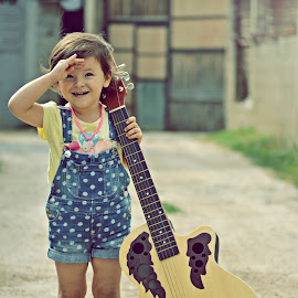 Hello World !  by Ardijan Latifi - Babies & Children Children Candids ( #likeforlike #followforfollow #bestoftheday #photooftheday #likeit #love #this #child #guitar #talent #buyit #magazine #kids #love #her # tetovo #macedonia #2014 #summer #fashion #style #uk #usa #ny #summer )