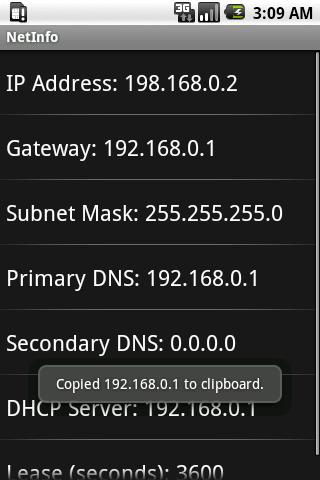 NetworkInfo