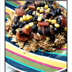 Black Beans over Dirty Rice