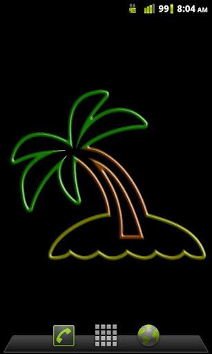 Neon Palm Tree LW