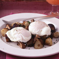 Poached Eggs with Mushroom Home Fries