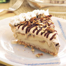 Dulce de Leche Ice Cream Pie with Mocha Fudge Sauce