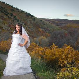 Fall Bride by Gennaveeve Ibarra - Wedding Bride ( fall colors, bridals, autumn, fall bridals, bride in fall colors )