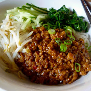 Zha Jiang Mian 炸醬麵 Noodles With Chinese Mince Sauce
