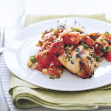 Grilled Chicken with Roasted Tomato and Oregano Salsa