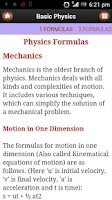 Screenshot of Basic Physics