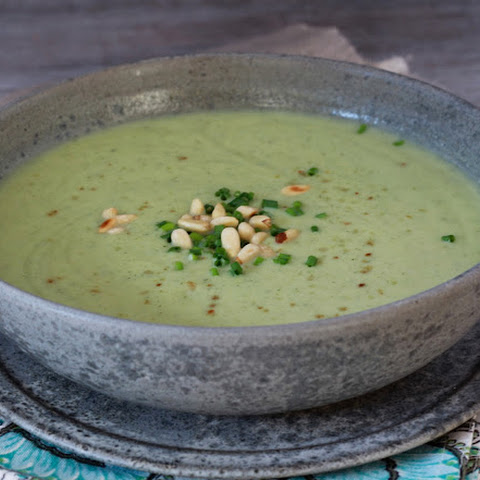 Zucchini, Cucumber and Avocado Cold Soup