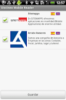 Screenshot of Distineo Mobile Reader