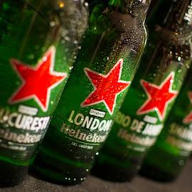 world wide by Bw Cris - Food & Drink Alcohol & Drinks ( bucharest, red, beer, heineken, london, rio de janeiro, green, bucuresti, bottle, world, shanghai )