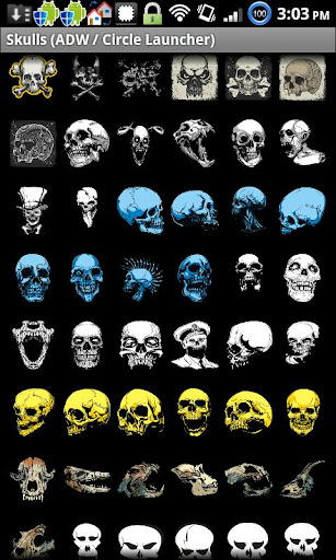 Skull Set ADW Circle Launcher