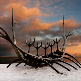 Sólfarið (The Sun Voyager) by Anna Guðmundsdóttir - Artistic Objects Other Objects ( sun voyager, reykjavík, art, ísland, sólfarið )