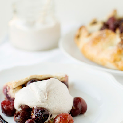 Cherry Almond Galette with Cinnamon Whipped Cream