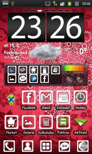 White Heart Go Launcher theme