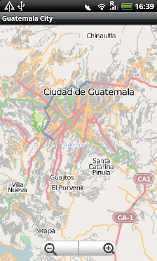 Guatemala City Street Map