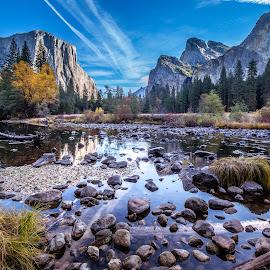 Yosemite Valey by David Long - Landscapes Prairies, Meadows & Fields ( yosemite, merced river, yosemite national park )
