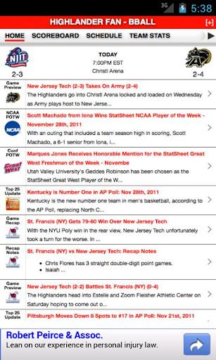 New Jersey Tech Basketball