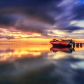 In The Mood by Bayu Adnyana - Landscapes Sunsets & Sunrises ( landscape photography, long exposure, sunrise, landscapes, morning )