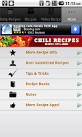 Screenshot of Chili Recipes!
