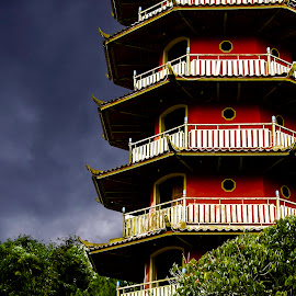 Pagoda before the rain by Jee Cornelius - Buildings & Architecture Places of Worship ( temple, sky, pagoda, tomohon, indonesia, weather, travel, place, culture )